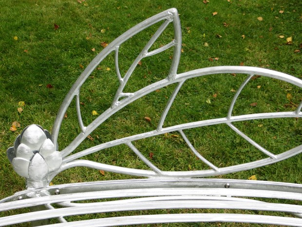 Dramatic bespoke garden bench