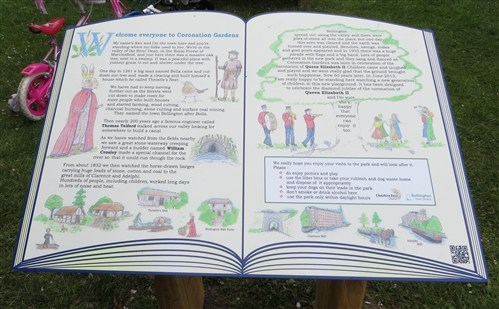 Illustrated story book information board