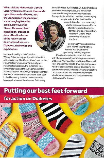 Seven thousand feet wins awards - Credit: Article in Social Responsibility magazine, the University of Manchester