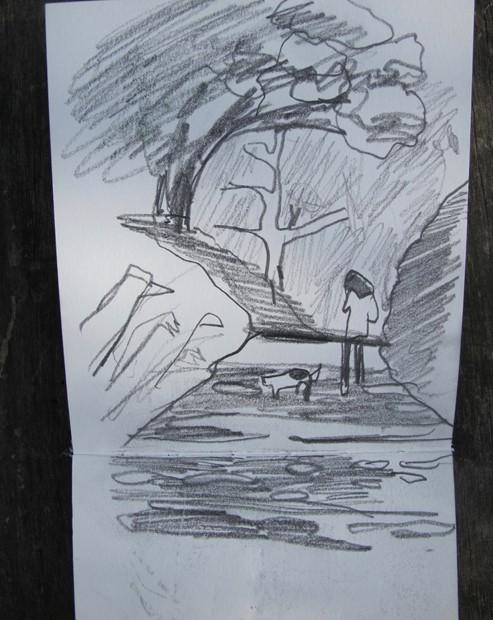 Taking a sketchbook for a walk.