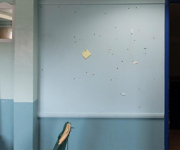 blue pinboard