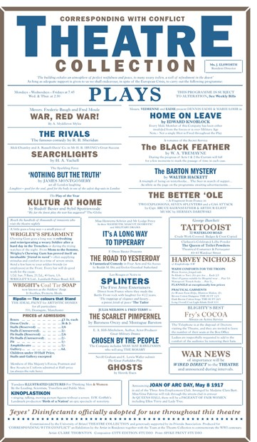 Corresponding with Conflict, Theatre Playbill Screenprint