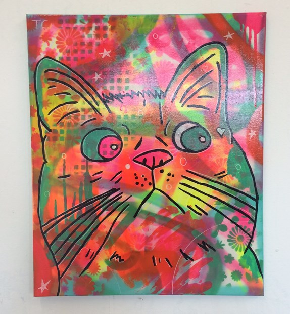 Cosmic moggy by Barrie J Davies