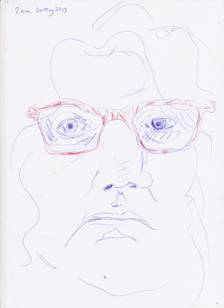 daily self-portrait drawing