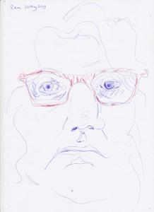daily self-portrait drawing, by Katya Robin