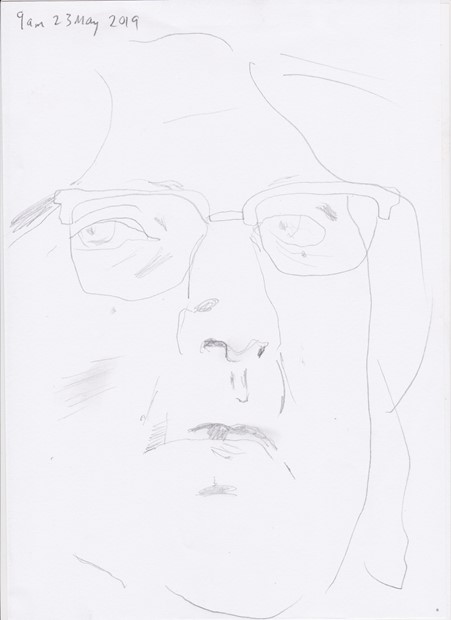 daily self-portrait drawing - Credit: KR