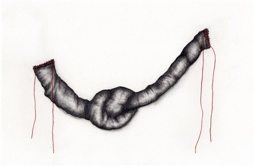Untitled (stitched drawings)