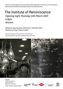 The Institute of Reminiscence exhibition launch, by Olivia Punnett