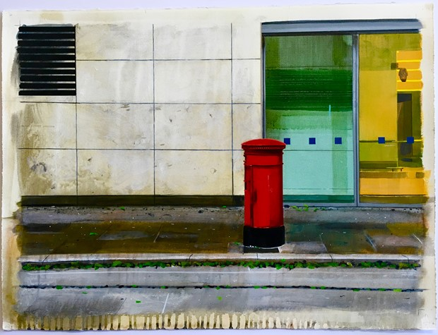 Untitled Postbox Painting (15/06/96)