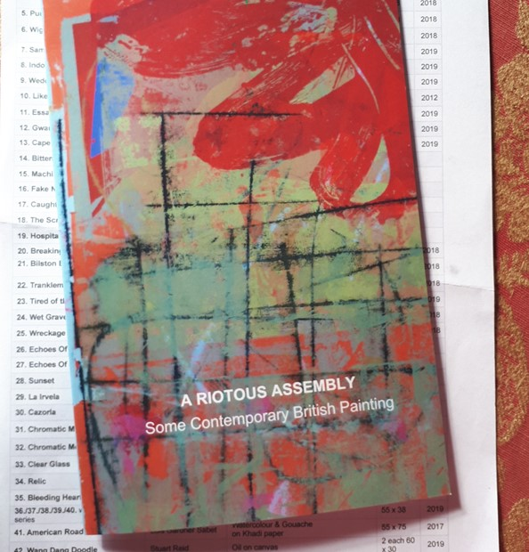 Catalogue for A riotous assembly curated by David Manley