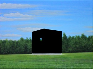 Anish Kapoor Sculpture Painted in Black 3.0, by James Moore