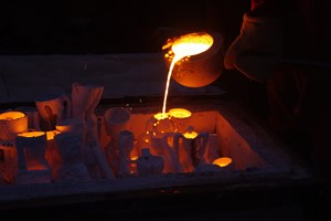 Winter Iron Pour, Wroclaw Academy of Fine Arts, by Ewan Robertson
