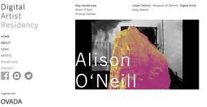 Digital Artist Residency, by Alison O'Neill