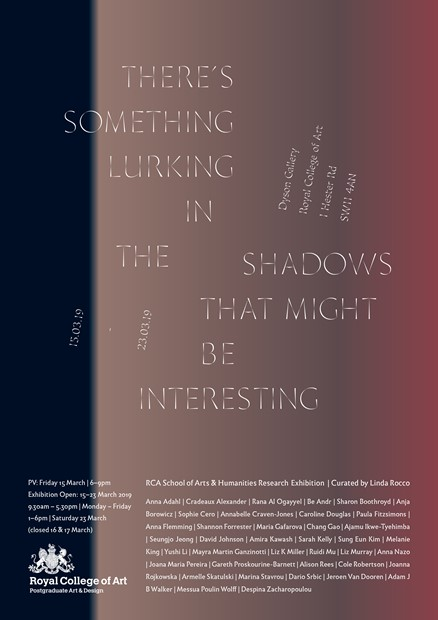 There's something lurking in the shadows, by Anna Flemming