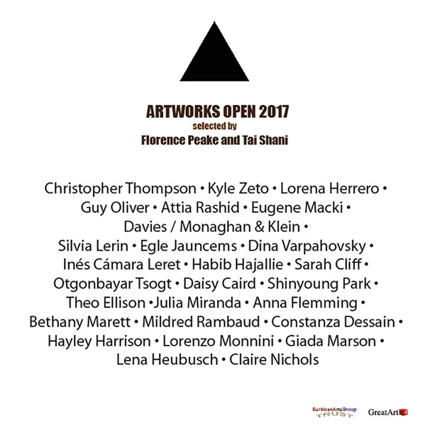 Artworks Open 2017 selected by Florence Peake and Tai Shani