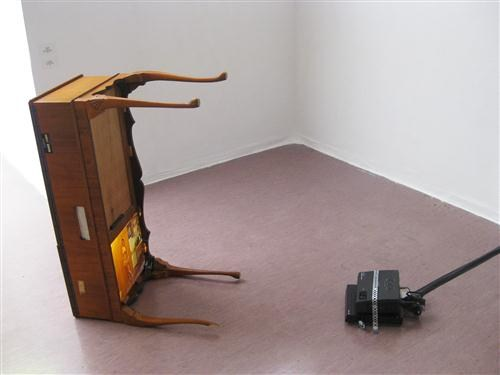 Untitled (video on table)
