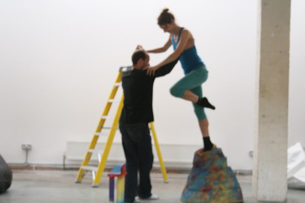 'Playful Menace' dance/sculpture R&D for Guest Projects (with Abigail Kessel) - Credit: Dancers: Abigail Kessel & Simon Haddock