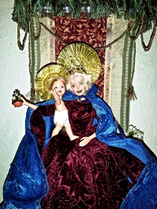 Barbie as Mother of God, by Eldi Dundee