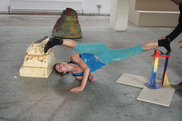 'Playful Menace' dance/sculpture R&D for Guest Projects (with Abigail Kessel) - Credit: dancer: Abigail Kessel