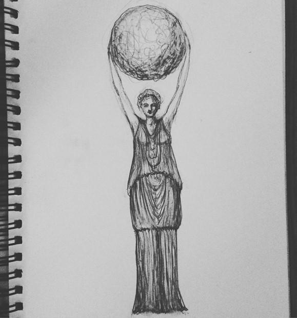 'Moonlady' bronze (no. 3)