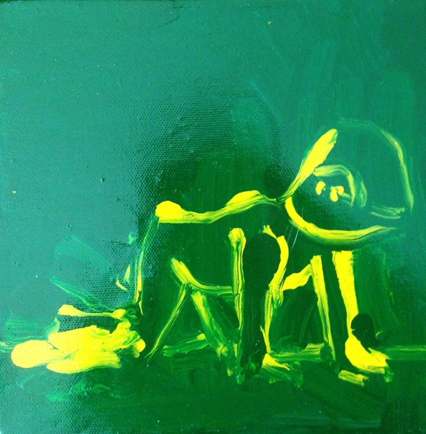 Franko B (green and yellow)