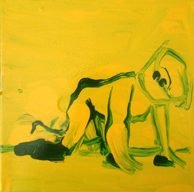 Franko B (yellow and green)