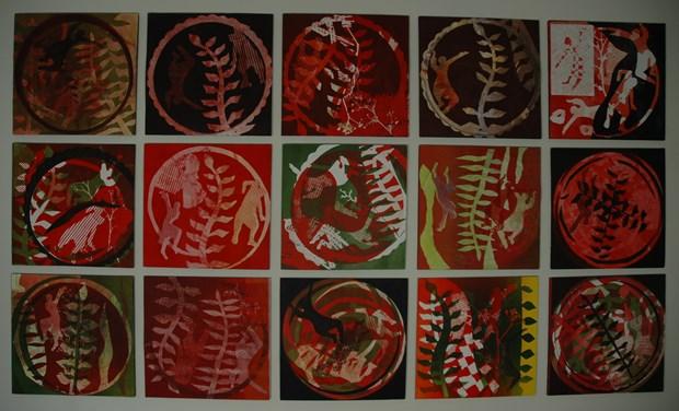 Prints at Ochre print studio, Guildford