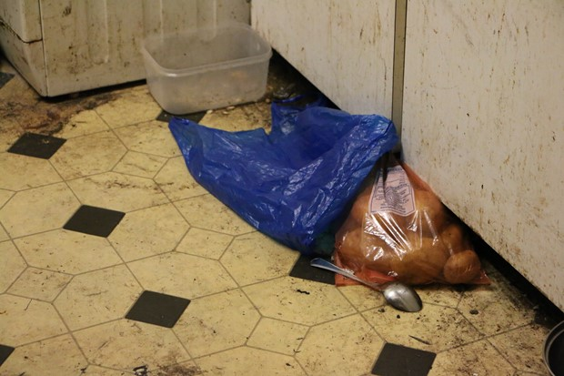 Potatoes, Smack Spoon and Blue bag
