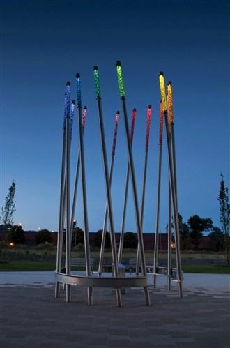 Fire & Water Light Wands Sculpture