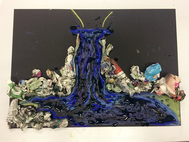 Collage: Crystal Growing- Nature and Transformation in Art, by Matt Gee