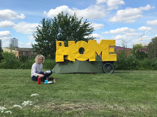 HOME-ing: a live art odyssey on foot from London to Wales - Credit: Daniel Crawshaw