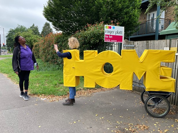 HOME-ing: a live art odyssey on foot from London to Wales - Credit: Kate Bull