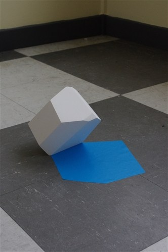 White Object Blue Shadow