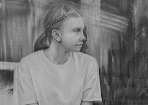Waiting Girl (video still) 4, by Susannah Douglas