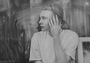 Waiting Girl (video still) 3, by Susannah Douglas
