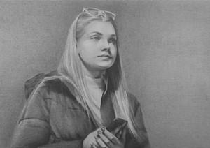 Waiting Girl (video still) 1, by Susannah Douglas