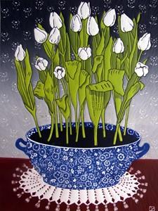 White Tulips, by Diana Ashdown