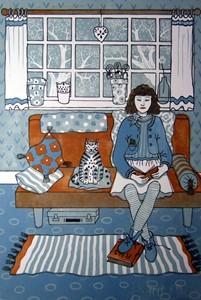 Cat Sitting, by Diana Ashdown