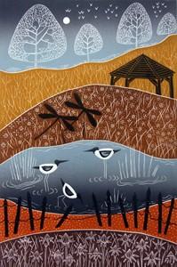 Wintry Pensthorpe, by Diana Ashdown