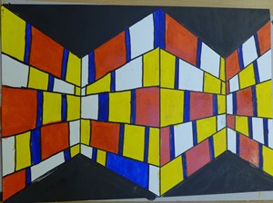 Mondrian's 3D Colour Walls, by Liz Sergeant