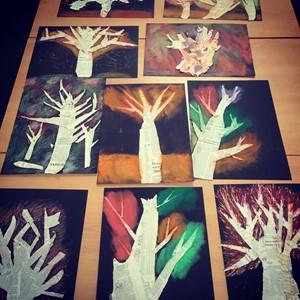 Autumn Trees, by Liz Sergeant