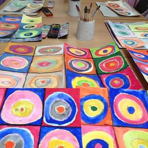 Kandinsky's Colourful Circles, by Liz Sergeant