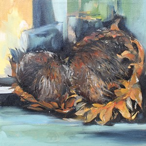 Sunflowers and decay, by Cherie Smith