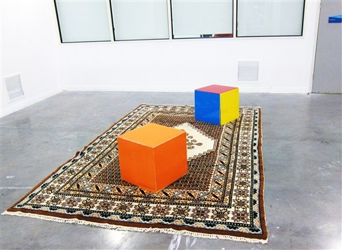 Persian Carpet With 2 Cubes