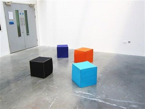 Blue, Orange, Black, Purple