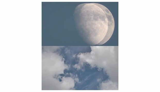 Moon and cloud movements 1
