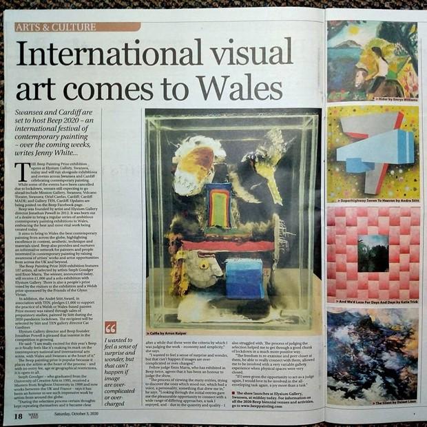 Friends of Glynn Vivian prize at BEEP biennial of painting