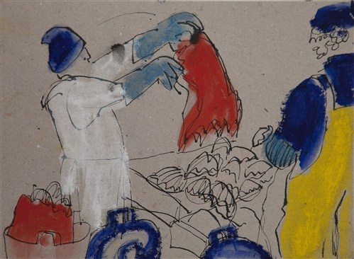 Sally booth member in london members axisweb contemporary emptying a sack of scallops shetland sciox Images