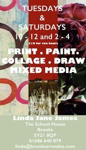 Brooks Art Mixed Media, by Linda Jane James