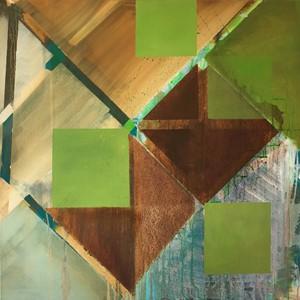 Tilted Greens 1, by Marion Jones
